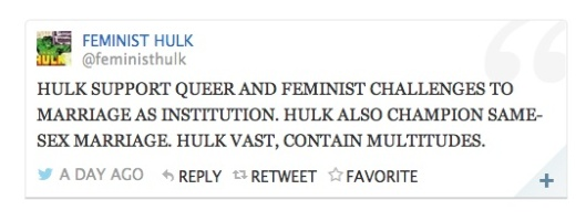 feminist hulk marriage