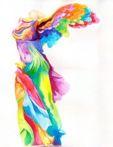 Nike of Samothrace by Peter Max